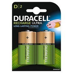 Pile Rechargeable D Duracell x 2