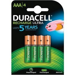 Piles Rechargeables AAA Duracell Recharge x 4 - 850 Mah