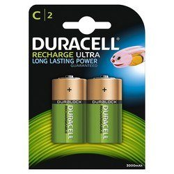 Piles Rechargeables C Duracell Recharge x 2 - 3000 mAh